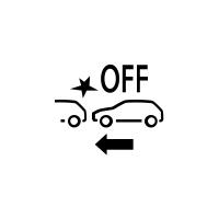 (Gépkocsitól függően) Meghibásodás vagy aktív vészfékezés elérhetetlenségének jelzője