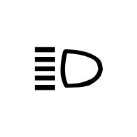 A távolsági fényszórók vissza-jelzőlámpája