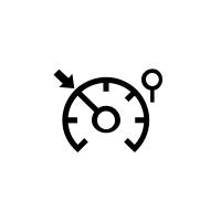 A sebességtartó- és sebességhatároló automatika visszajelzőlámpái